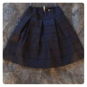 Structured A-line Navy Skirt
